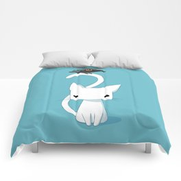 Cat and Raven Comforters