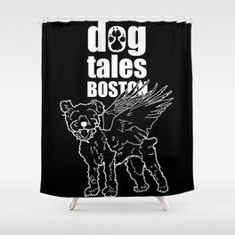 Summer of Bear (Black Background) Shower Curtain
