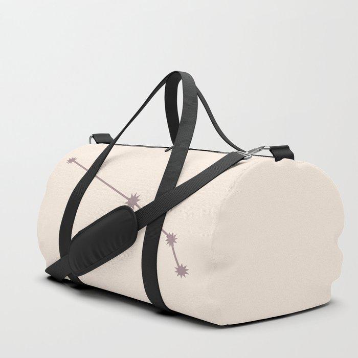 Aries Zodiac Constellation Neutral Rose Duffle Bag
