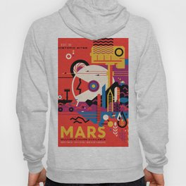 NASA Retro Space Travel Poster #9 Mars Hoody