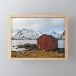 The red shed Framed Mini Art Print
