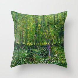 Vincent Van Gogh Trees and Undergrowth 1887 Throw Pillow