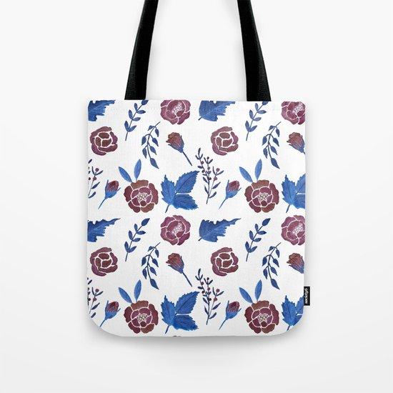 Watercolor floral red roses print Tote Bag