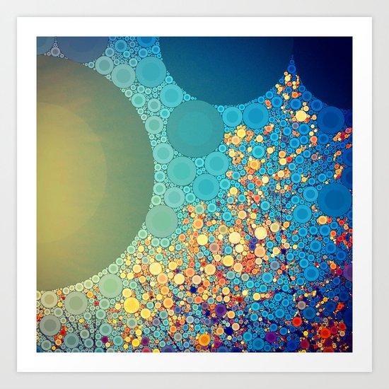 Sky and Leaves Art Print