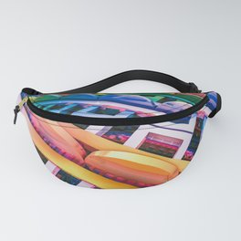 Brace Face Space. 3D Abstract Design Fanny Pack