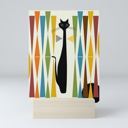 Mid-Century Modern Art Cat 2 Mini Art Print