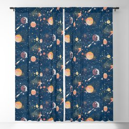 Painted Space Blackout Curtain