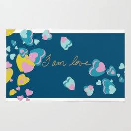 I Am Love. Yellow, Blue, Pink Rug