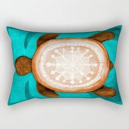 Snowflake turtle Rectangular Pillow