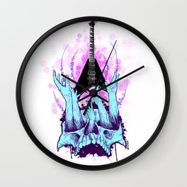 Blessed be the Rhoads by Fred Gonzalez Wall Clock