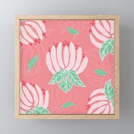 Blush Bloom Peony Blossom Framed Mini Art Print