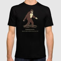 The Samsquanch (Anthropoidipes Sunnyvalis) LARGE Black Mens Fitted Tee
