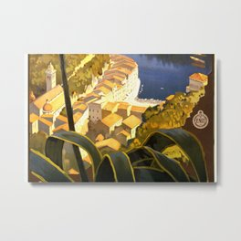 La Riviera italienne, Portofino près de S.Margherita et Rapallo Metal Print