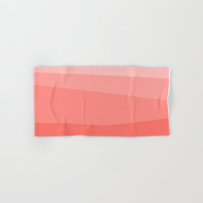 Diagonal Living Coral Gradient Hand & Bath Towel