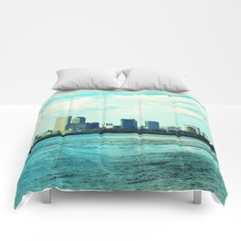 New Orleans Skyline Comforters