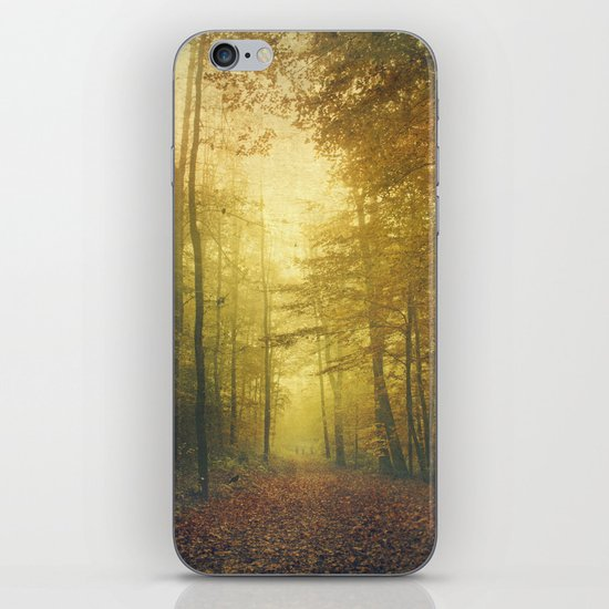 fall morning forest iPhone & iPod Skin