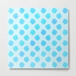 Little Blue Clover Metal Print