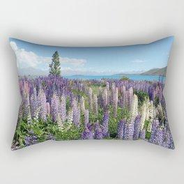 Colorful lupine towers Rectangular Pillow