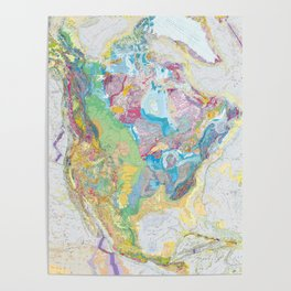 USGS Geological Map of North America Poster