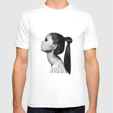Ponytail Mens Fitted Tee MEDIUM White