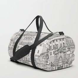 Bath toile black silver Duffle Bag