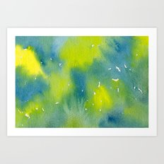 Vibrant sunshine tree top Art Print