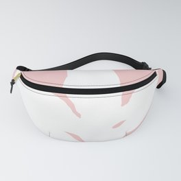 White Fern Pink Fall Fanny Pack
