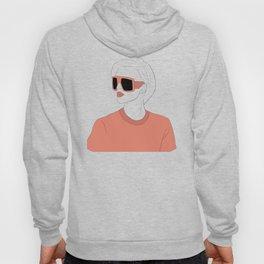 Pink Sunglasses Girl Hoody