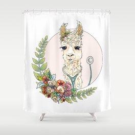 Healthcare Llama Shower Curtain