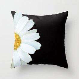 Hello Daisy - White Flower Black Background #decor #society6 #buyart Deko-Kissen