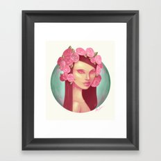 Pink Rose Queen Framed Art Print