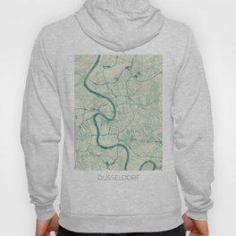 Dusseldorf Map Blue Vintage Hoody