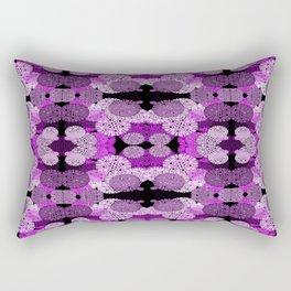 Snowflake II in Purples Rectangular Pillow