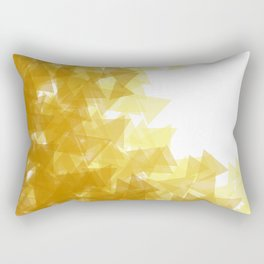 Gold abstract Rectangular Pillow