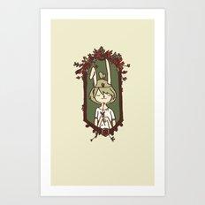 Bunny Bride Art Print