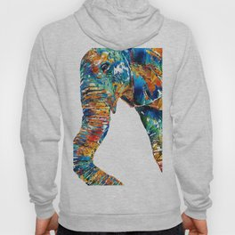 Colorful Elephant Art by Sharon Cummings Hoody