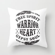 Warrior Heart Throw Pillow