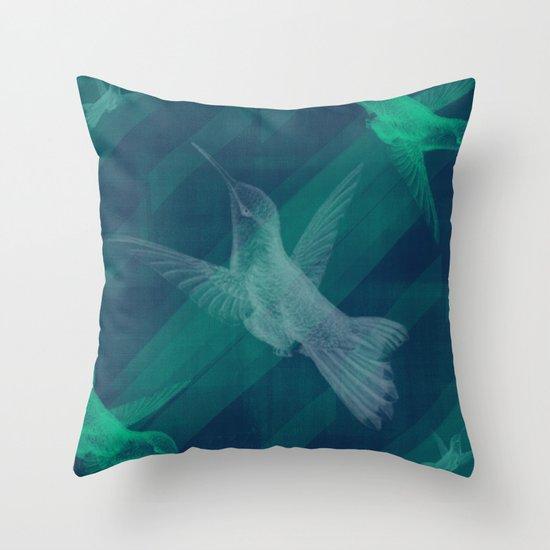Flight of the Hummingbird Throw Pillow