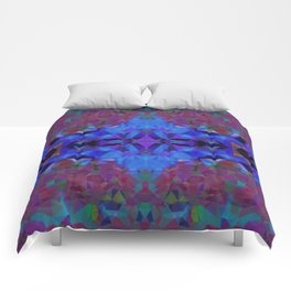 Cobalt Hex Comforters