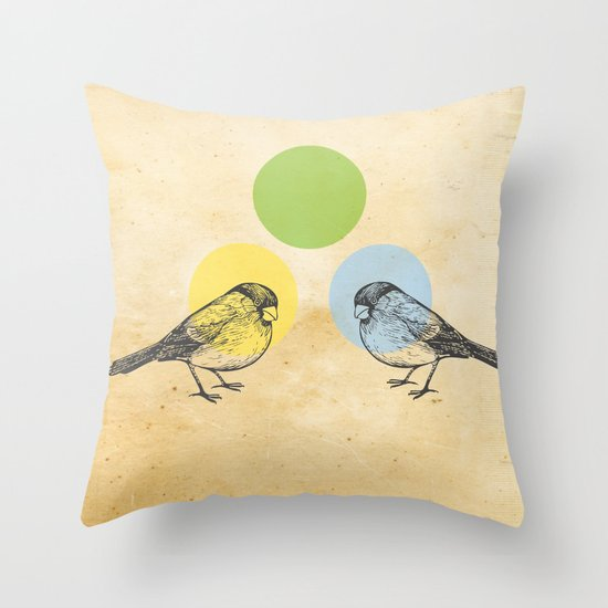Together we make green Throw Pillow