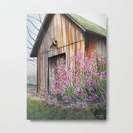 Little Spring Barn Metal Print
