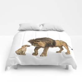 Dad and son Comforters