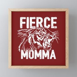 Fierce Momma / Red Framed Mini Art Print