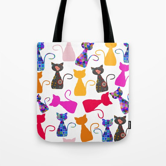 Cats pattern #4 Tote Bag