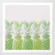 Pineapple Greenery Art Print