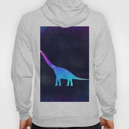 BRACHIOSAURUS IN SPACE // Animal Graphic Art // Watercolor Canvas Painting // Modern Minimal Cute Hoody