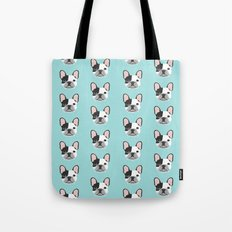 Frenchie black and white french bulldogs french bulldog gifts for dog lovers Tote Bag