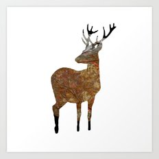 deer · things from the past Art Print