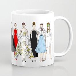 Outfits of Audrey Hepburn Fashion (White) Coffee Mug