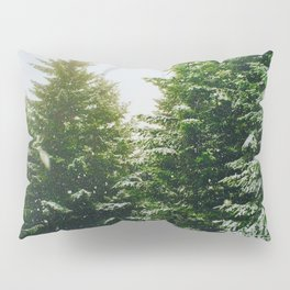 Winter Pine Tree Forest (Color) Pillow Sham